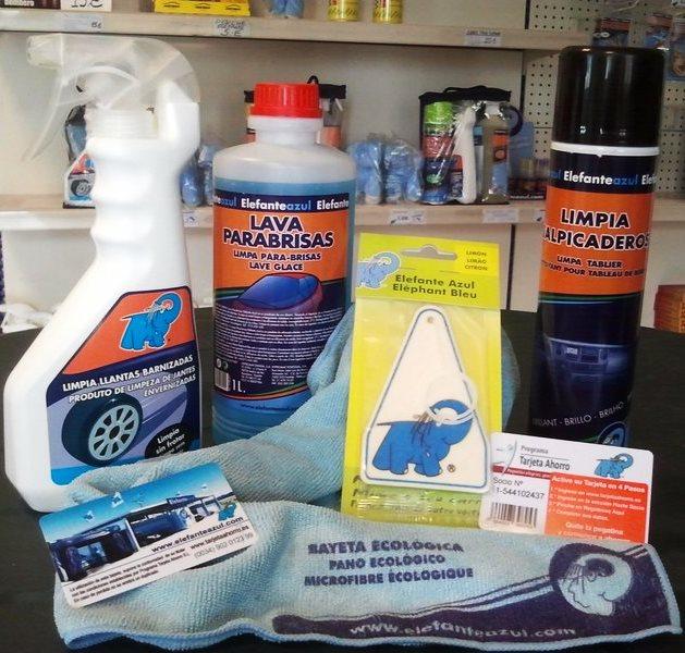 lote te ofrecemos cinco productos del Elefante Azul,