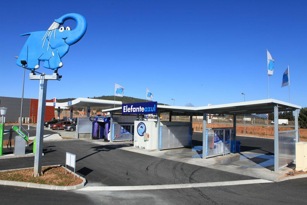 Instalación para el lavado de coches Elefante Azul