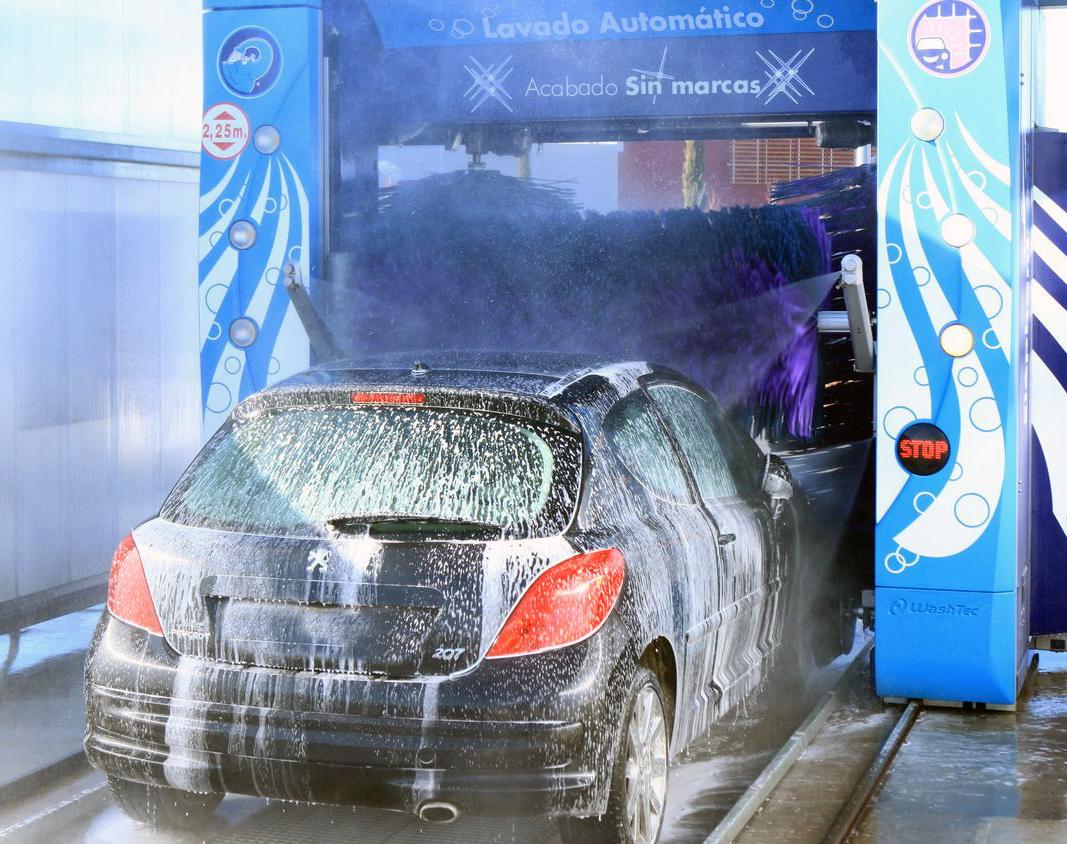 Lavado automático de coche con portico - Autolavado barcelona - Lavado sin marcas