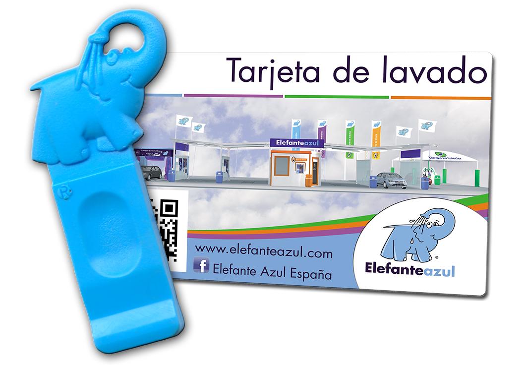 tarjeta de lavado para los centros de lavado de coches Elefante Azul España