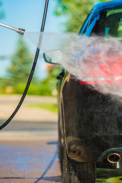 Lavado a presión para coches elefante azul