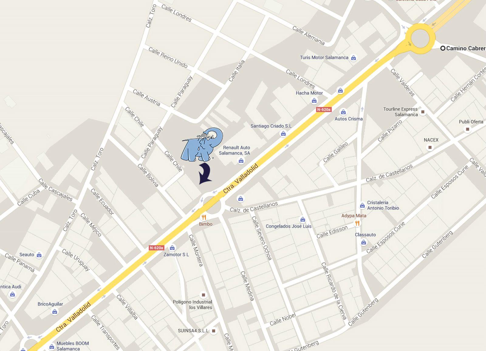 Mapa VILLARES DE LA REINA