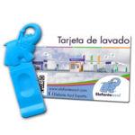 Tarjeta y llave de lavado Elefante Azul