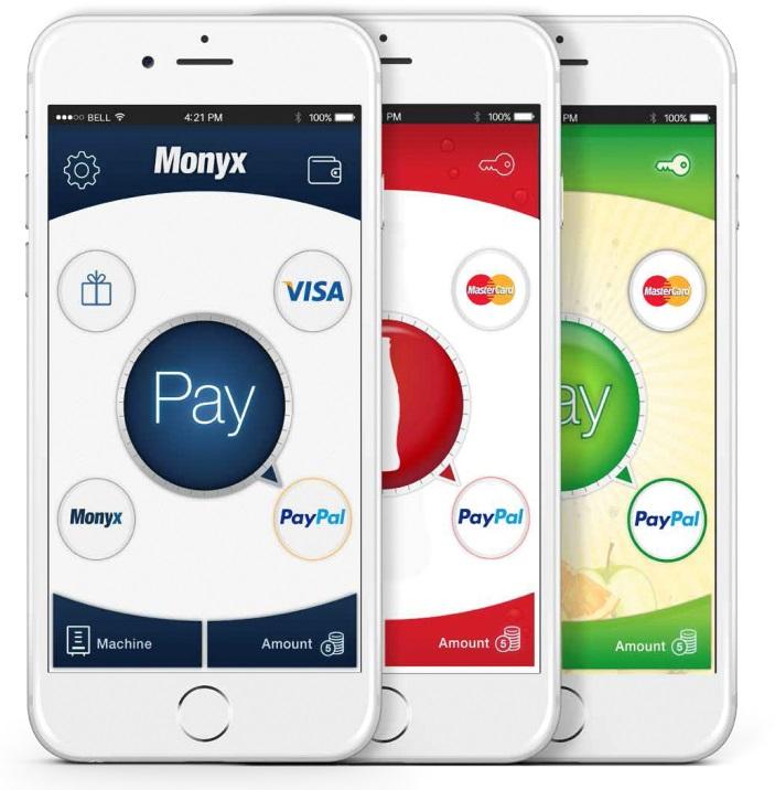 sistema de pago con tarjeta o app