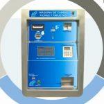 Máquina de cambio, fichas y tarjetas Elefante Azul
